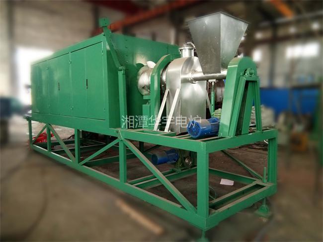 66KW粉体材料实验回转炉试炉成功 准备发货
